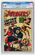 Silver Age (1956-1969):Superhero, The Avengers #4 (Marvel, 1964) CGC FN 6.0 Cream to off-white pages....