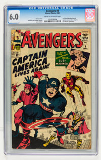 The Avengers #4 (Marvel, 1964) CGC FN 6.0 Cream to off-white pages