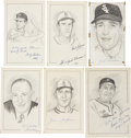 "Baseball Collectibles:Others, Major League Baseball Stars Signed Original Artwork Lot of 6 from""Raitt Collection""...."
