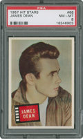 Non-Sport Cards:General, 1957 Topps Hit Stars James Dean #66 PSA NM-MT 8....