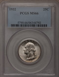 Washington Quarters: , 1932 25C MS66 PCGS. PCGS Population (149/2). NGC Census: (88/2).Mintage: 5,404,000. Numismedia Wsl. Price for problem free...
