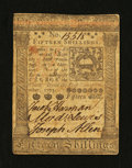 Colonial Notes:Pennsylvania, Pennsylvania October 1, 1773 15s Extremely Fine....
