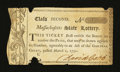 Colonial Notes:Massachusetts, Massachusetts State Lottery. Class the Second. March 2, 1790....