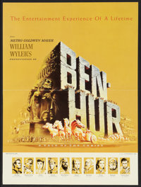 """Ben-Hur (MGM, 1960). Fold Out Promo (17"""" X 23"""" Folded Out). Historical Drama"""