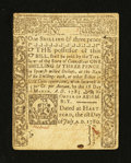 Colonial Notes:Connecticut, Connecticut July 1, 1780 1s/3d Cut Cancel Extremely Fine-AboutNew....