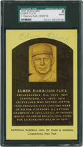 Baseball Collectibles:Others, Elmer Flick Signed Hall of Fame Plaque Postcard (signed twice). ...