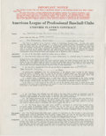 Baseball Collectibles:Others, 1935 Frank Crosetti Signed Player's Contract....