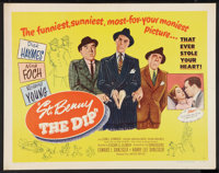 """St. Benny the Dip (United Artists, 1951). Half Sheet (22"""" X 28"""") Style A. Comedy"""