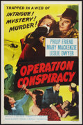 """Movie Posters:Mystery, Operation Conspiracy (Republic, 1957). One Sheet (27"""" X 41"""") FlatFolded. Mystery.. ..."""