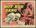 "Movie Posters:Exploitation, Hot Rod Gang (American International, 1958). Half Sheet (22"" X 28""). Exploitation.. ..."