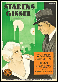"""The Beast of the City (MGM, 1932). Swedish One Sheet (27.5"""" X 39.5""""). Crime"""