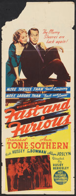 "Fast and Furious Lot (MGM, 1940). Australian Daybills (2) (15"" X 40""). Comedy. ... (Total: 2 Items)"