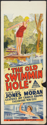 "The Old Swimmin' Hole (Monogram, 1940). Australian Daybill (15"" X 40""). Drama"