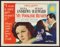 "Movie Posters:Drama, My Foolish Heart (RKO, 1949). Half Sheet (22"" X 28"") Style A. Drama.. ..."
