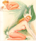 Pin-up and Glamour Art, EARL MAC PHERSON (American, 1910-1993). Bunny Pin-Up. Mixedmedia on board. 20 x 17 in.. Signed lower right. ...