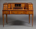 Furniture , A GEORGE III-STYLE CARLTON HOUSE DESK . Probably London, England, circa 1880. Marks: lockplate stamped (crowned... (Total: 2 Items)