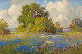 Paintings, ROBERT WILLIAM WOOD (American, 1889-1979). Bluebonnet Landscape. Oil on canvas. 20 x 30 inches (50.8 x 76.2 cm). Signed ...