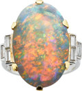 Estate Jewelry:Rings, Opal, Diamond, Platinum, Gold Ring. ...