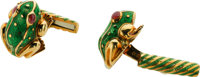 Enamel, Gold Cuff Links, David Webb