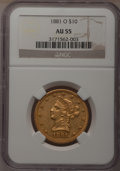 Liberty Eagles, 1881-O $10 AU55 NGC....