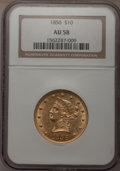 Liberty Eagles, 1856 $10 AU58 NGC....