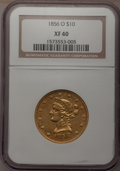 Liberty Eagles, 1856-O $10 XF40 NGC....