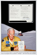 Transportation:Space Exploration, Apollo 17 Lunar Module Flown LM Lunar Surface Checklist BookPage Originally from the Personal Collection of Missi...