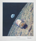 "Autographs:Celebrities, Alan Bean Signed Artist Proof Apollo 8 Print ""Homeward Bound,"" alsoSigned by Mission Commander Frank Borman...."