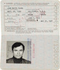 Transportation:Space Exploration, John Young's Official United States Passport, June 1, 1976- May 31,1981, Originally from his Personal Collection, Signed....