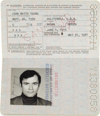 John Young's Official United States Passport, June 1, 1976- May 31, 1981, Originally from his Personal Collection