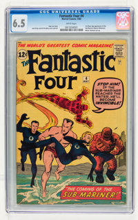 Fantastic Four #4 (Marvel, 1962) CGC FN+ 6.5 White pages