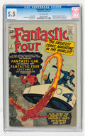 Silver Age (1956-1969):Superhero, Fantastic Four #3 (Marvel, 1962) CGC FN- 5.5 Off-white pages....