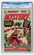 Silver Age (1956-1969):Superhero, Journey Into Mystery #83 (Marvel, 1962) CGC VG/FN 5.0 Off-white towhite pages....