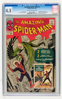 The Amazing Spider-Man #2 (Marvel, 1963) CGC VG+ 4.5 Off-white to white pages