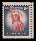 Stamps, 8c Dark Violet Blue & Carmine Error (1041a),...