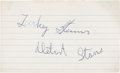 Baseball Collectibles:Others, Turkey Stearnes Signed Index Card....