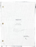 """Football Collectibles:Publications, O.J. Simpson Signed """"Frogmen"""" Script...."""