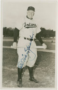 Baseball Collectibles:Photos, 1954 Tris Speaker Signed Postcard....