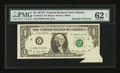 Error Notes:Foldovers, Fr. 1910-F $1 1977A Federal Reserve Note. PMG Uncirculated 62 Net.....