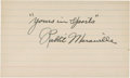 Baseball Collectibles:Others, Rabbit Maranville Signed Index Card....