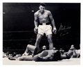 Boxing Collectibles:Autographs, Muhammad Ali Signed Oversized Photograph With AKA Cassius ClayInscription....