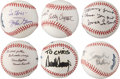 Miscellaneous Collectibles:General, American Celebrities Single Signed Baseballs Lot of 6 - RareInscriptions!...