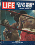 """Boxing Collectibles:Autographs, Muhammad Ali and Joe Frazier Signed """"LIFE"""" Magazine...."""