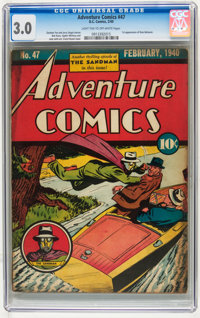 Adventure Comics #47 (DC, 1940) CGC GD/VG 3.0 Light tan to off-white pages