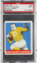 "Football Cards:Singles (Pre-1950), 1948 Leaf Steve Van Buren ""Yellow Jersey and Sock"" #22 PSA NM 7 -Highest Single Graded Example!..."