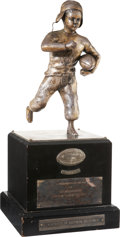 """Football Collectibles:Others, 1939 NCAA Football National Championship """"Timmie"""" Award Presented to University of Southern California...."""
