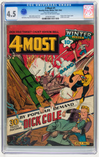 4Most V1#1 (Novelty Press, 1942) CGC VG+ 4.5 Light tan to off-white pages