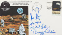 Apollo 11 Crew-Signed Type III Insurance Cover Directly from the Personal Collection of Mission Lunar Module Pilot Buzz...