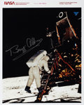 Autographs:Celebrities, Buzz Aldrin Signed Apollo 11 Color Photo of His Descent Down the LMLadder, Directly from his Personal Collection....