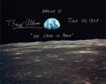"Autographs:Celebrities, Buzz Aldrin Signed Apollo 11 Color Photo of ""Earthrise"" Directly from his Personal Collection...."